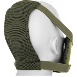 Black Bear Airsoft V8 Mesh Nylon Half Face Mask - WOODLAND CAMO