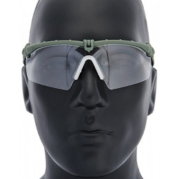 UK Arms Airsoft AC-470C Clear Shooting Glasses - GRAY