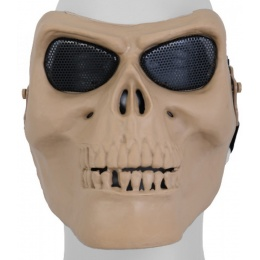 UK Arms Airsoft Gen 2 Mesh Skull Full Face Mask - TAN