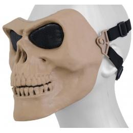UK Arms Airsoft Gen 2 Mesh Skull Full Face Mask - TAN
