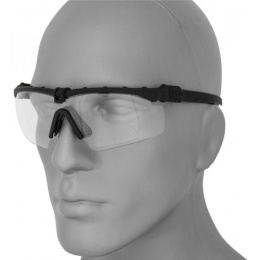 UK Arms Airsoft AC-467C Clear Shooting Glasses - BLACK
