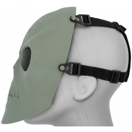 UK Arms Airsoft AC-475G Skull Full Face Mask - ZOMBIE GREEN
