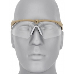 UK Arms Airsoft AC-469C Clear Shooting Glasses - TAN