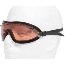 TMC Airsoft AC-376R Low Profile View Goggles - RUBY RED