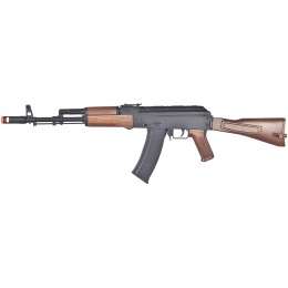 Wellfire Airsoft D74 Plastic AK-74 AEG - BLACK & WOOD