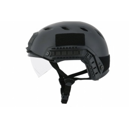 Lancer Tactical Airsoft Lowered Visor Medium Helmet - BLACK