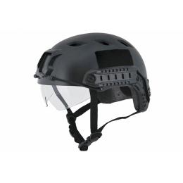 Lancer Tactical Airsoft Lowered Visor Medium Helmet - BLACK