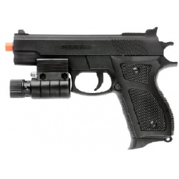 UK Arms Airsoft Spring M777R Pistol w/ Laser - BLACK