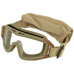 ArmorOptik AO-800 PolyCarbonate Airsoft Goggles - DESERT TAN