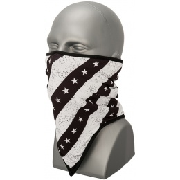 Zan Headgear Airsoft Combo Gaiter Fleece - BLACK & WHITE