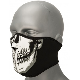 Zan Headgear Airsoft Glow in the Dark Half Mask - SKULL FACE