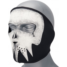 Zan Headgear Airsoft Neoprene Full Face Mask - GRAY SKULL