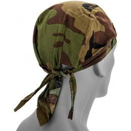 Zan Headgear Airsoft Cotton Headwrap - WOODLAND