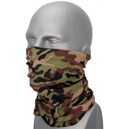 Zan Headgear Airsoft Motley Tube Polyester - WOODLAND CAMO