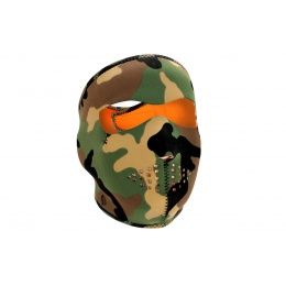 Zan Headgear Airsoft Full Face Reverse Mask - WOODLAND
