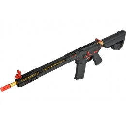 King Arms BRO M4 Fallout 15 Airsoft AEG Rifle - BLACK/RED/GOLD