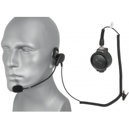 Code Red Close Quarters Boom Mic Headset - MOTOROLA 1 PIN