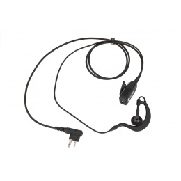 Code Red Watchman Lapel Soft Hook Microphone w/ PTT - MOTOROLLA 2 PIN