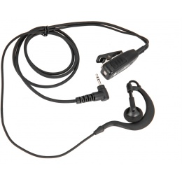 Code Red Watchman Lapel Soft Hook Microphone PTT - MOTOROLLA 1 PIN