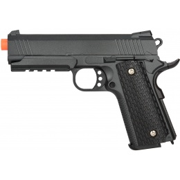 UK ARMS Airsoft G25B Series Spring Pistol w/ Rail - BLACK