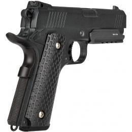 UK ARMS Airsoft G25B Series Spring Pistol w/ Rail - BLACK