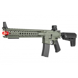Krytac Licensed Airsoft Warsport M4 LVOA-S AEG Rifle - FOLIAGE GREEN