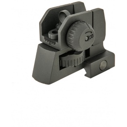 Krytac Airsoft Tactical Rear High Quality Iron Sight - BLACK