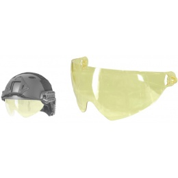 Lancer Tactical Airsoft Visor Lens for PJ-Style Helmets - YELLOW