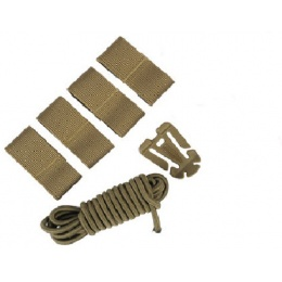 AMA Airsoft Tactical Helmet DIY Deck Kit - DARK EARTH