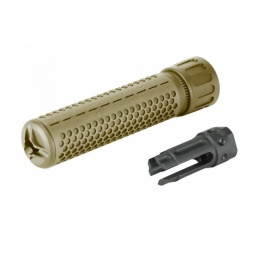 Madpull Knights Armament  QD Airsoft 14mm CCW Barrel Extention - TAN