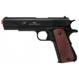 Double Eagle Airsoft Spring Pistol w/ Sights - BLACK