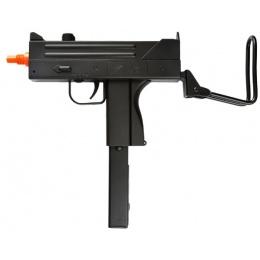 Double Eagle Airsoft M42F Spring Uzi Pistol w/ Foldable Stock - BLACK