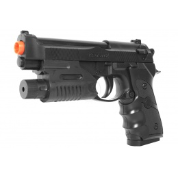 UK Arms Airsoft 757R Spring M9 Pistol w/ Built-In Laser