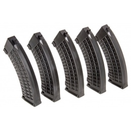 King Arms Airsoft AK 110rd Thermal Midcap Magazine - BLACK - 5 PACK