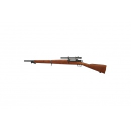 G&G Combat CO2 Full Metal GM1903 A4 Air Rifle - WOOD/SILVER