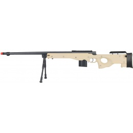 WellFire Airsoft L96 Bolt Action Rifle w/ Fluted Barrel & Bipod - TAN
