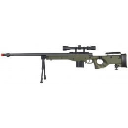 WellFire Airsoft L96 Bolt Action Rifle w/ Scope & Bipod - OD GREEN