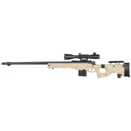 WellFire Airsoft L96 Bolt Action Tri Rail Rifle w/ Scope & Barrel - TAN