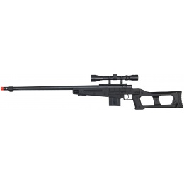 WellFire Airsoft L96 Bolt Action Rifle w/ Scope & Barrel - BLACK
