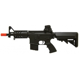AGM Airsoft MP038 M4 CQB RIS Stubby AEG Rifle - BLACK