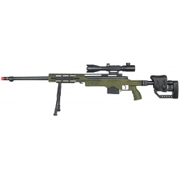 WellFire Airsoft M28 Bolt Action Extended Rifle w/ Scope & Bipod - OD