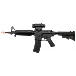 WellFire Airsoft Plastic Gear M4A1 w/ Adjustable LE Stock - BLACK