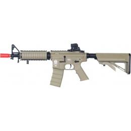 ICS Airsoft M4 CQB Plastic Frame RIS AEG Rifle - TAN