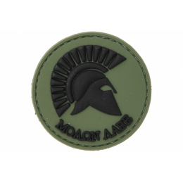 UK Arms AC-110A Molon Labe PVC Morale Patch - OD GREEN