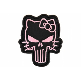 UK Arms AC-110B Punisher Kitty PVC Morale Patch - PINK/BLACK