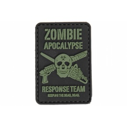 UK Arms AC-110D Zombie Response PVC Morale Patch - BLACK/GREEN