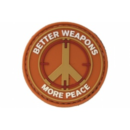 UK Arms AC-110F Better Weapons PVC Morale Patch - ORANGE/TAN