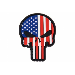 UK Arms AC-110G Punisher USA PVC Morale Patch - RED/WHITE/BLUE