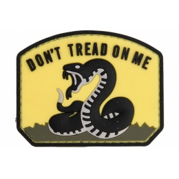 AMA Don't Tread On Me PVC Morale Patch - BLACK/YELLOW