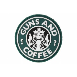UK Arms AC-110J Guns and Coffee PVC Patch - BLACK/GREEN/WHITE